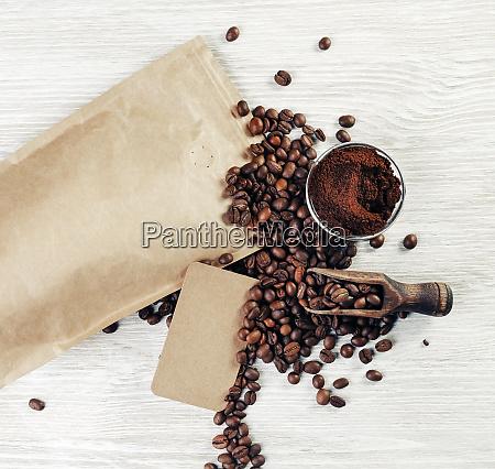 stillleben mit kaffeebohnen