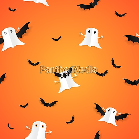 happy halloween card design elements on
