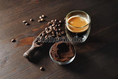 stillleben mit espresso