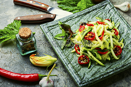 zucchini vegetable salad