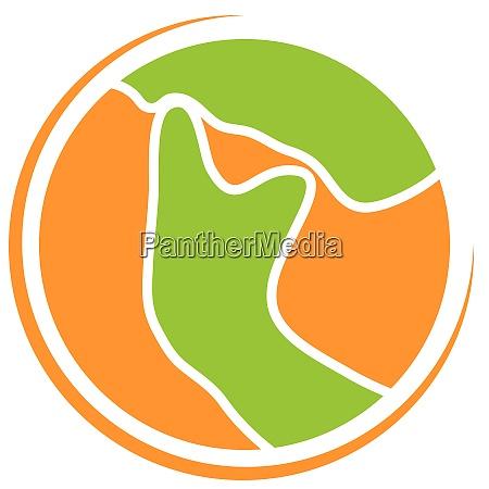 kopf kiefer kieferorthopaedie zahnarzt logo symbol