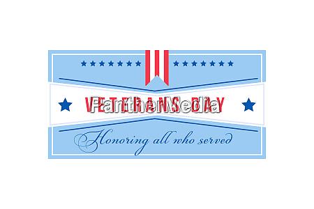 american veterans day flache farbe vektor