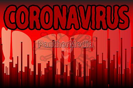 coronavirus blood city grunge