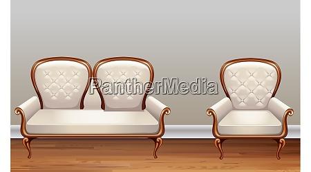 mock up illustration der couch auf
