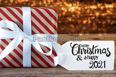 weihnachtsgeschenk label frohe weihnachten und ein