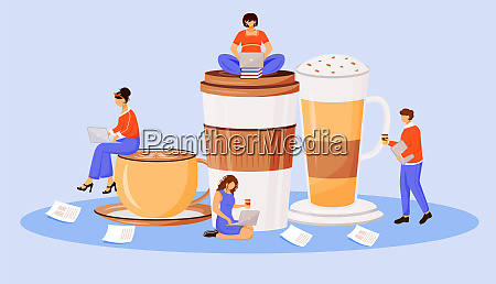 coffee, culture, flat, concept, vector, illustration - 28675716