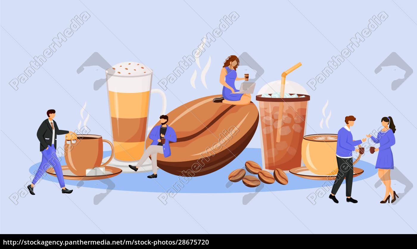 coffee, culture, flat, concept, vector, illustration - 28675720