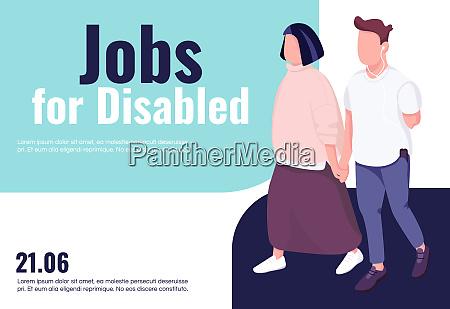 jobs fuer deaktivierte banner flache vektor