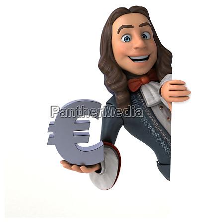 3d illustration eines cartoon mannes in