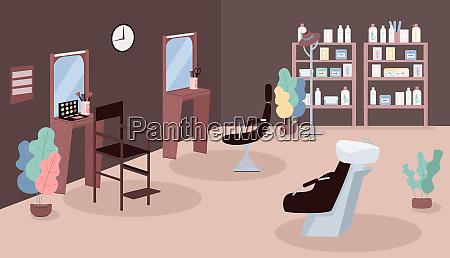 schoenheitssalon flache farbe vektor illustration