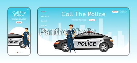 rufen sie polizei responsive landing page