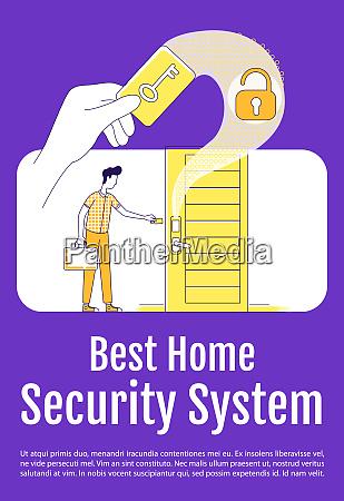 beste haus sicherheitssystem poster flache silhouette
