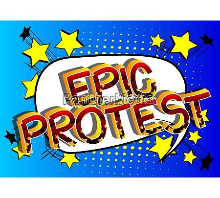epische protest comic buch stil cartoon