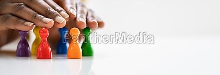 diversity and inclusion concept handschutz pfand