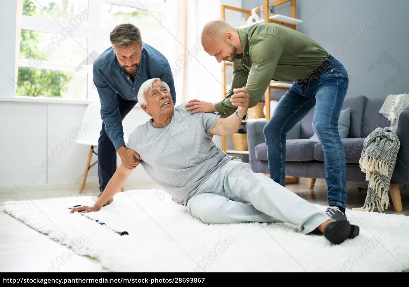 hilfe, für, elder, senior, fallen, man - 28693867