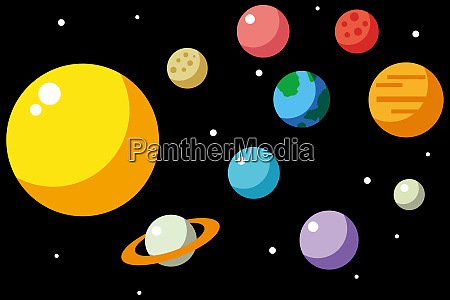 planeten universum kosmos illustration