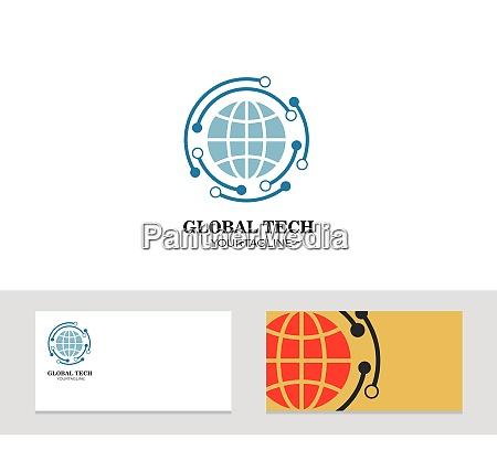 logo symbol firmenkarte globus vektor illustration