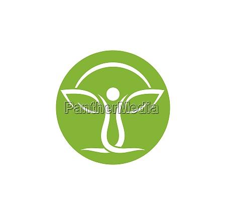 gesundes leben menschen medizinische logo vorlage