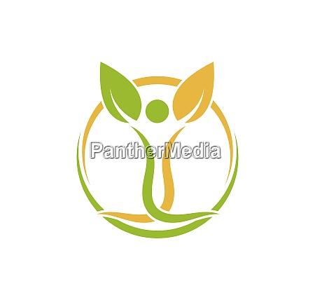 gesundes, leben, menschen, medizinische, logo-vorlage, vektor - 28701720