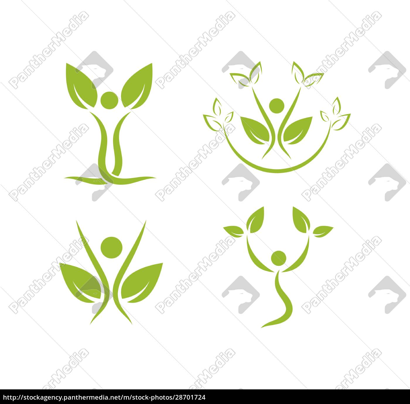 gesundes, leben, menschen, medizinische, logo-vorlage, vektor - 28701724