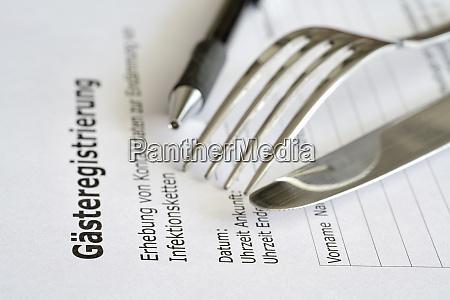 formular zur gaesteregistrierung gaesteregistrierung in