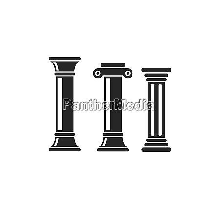 saeule logo vektor vorlage illustration