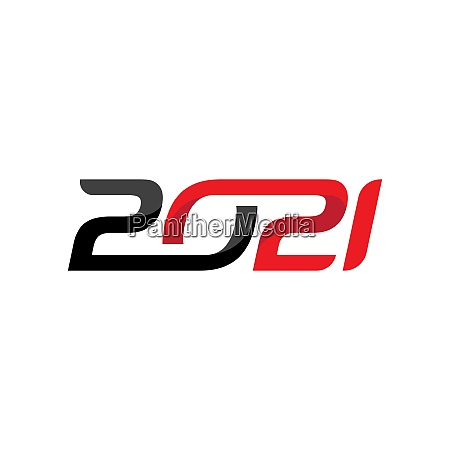 2021 neues jahr symbol vektor illustration