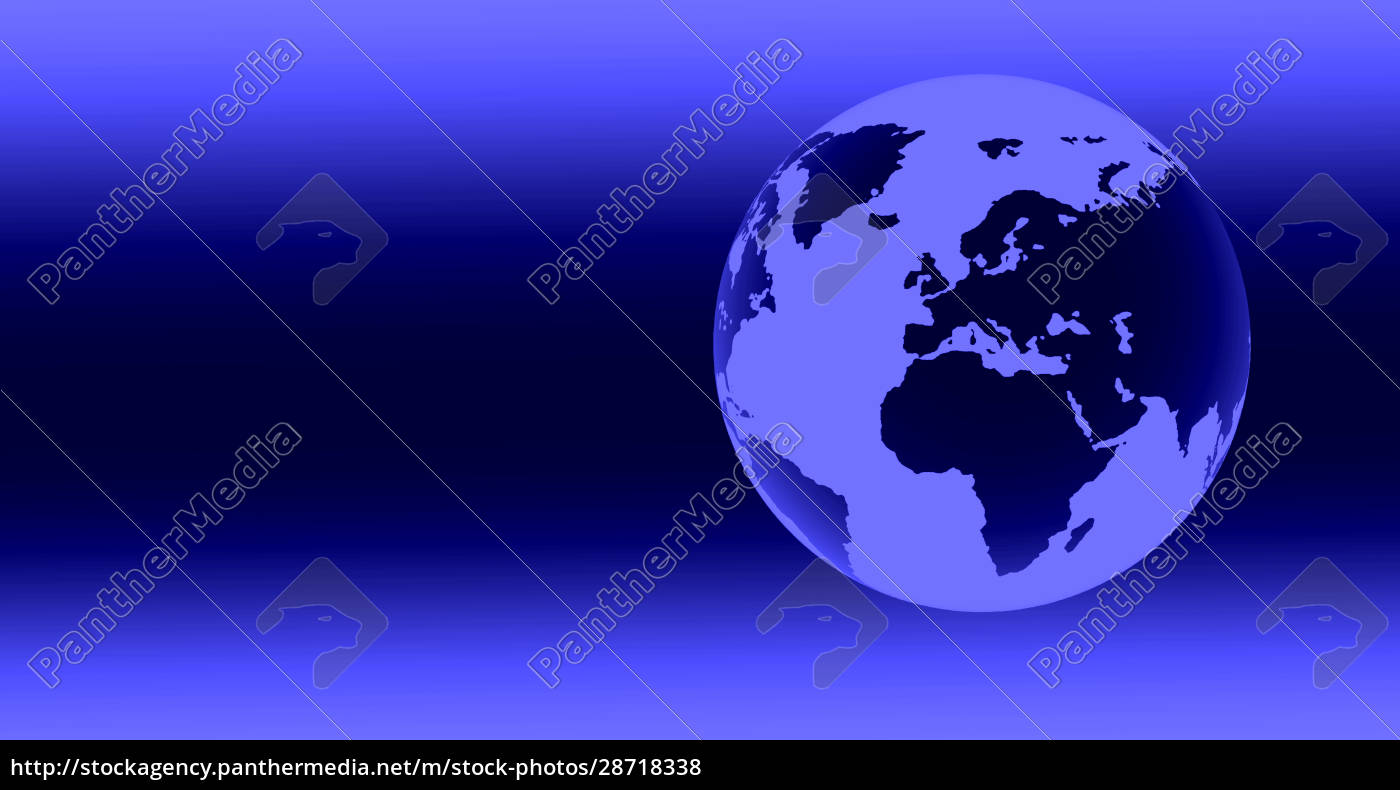 digitally, generated, blue, globe - 28718338