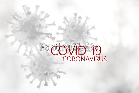 coronavirus modelle mit covid 19 zeichen