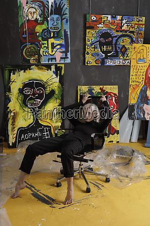 portrait confident cool young female artist