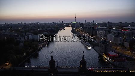 scenic view berlin and spree river