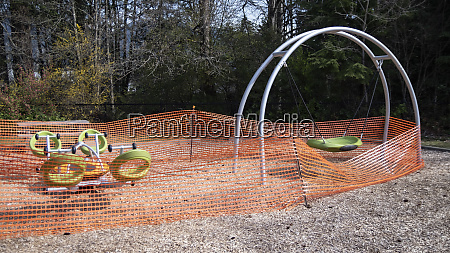 playground equipment gated off during covid