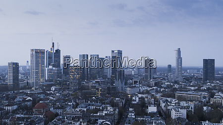 frankfurt skyscrapers and cityscape germany