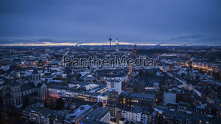 cologne cityscape and colonius tv tower