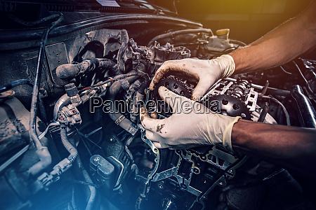 auto reparatur und wartung zusammensetzung