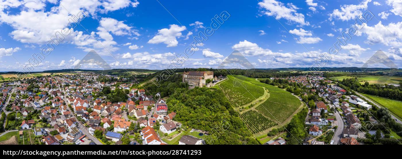 deutschland, baden-württemberg, untergruppenbach, panorama, der, burg, stettenfels, und, der - 28741293