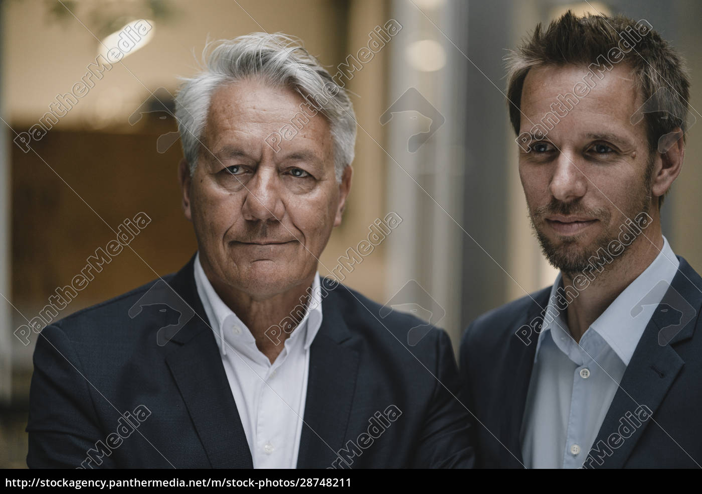 portrait, of, two, businessmen, , looking, at - 28748211