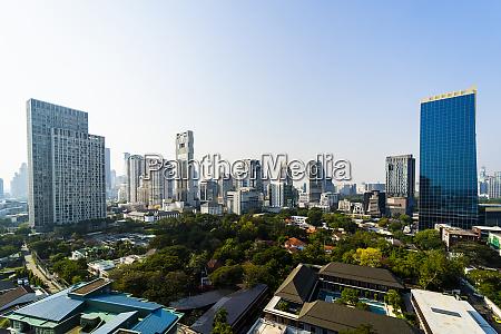 skyline von bangkok thailand