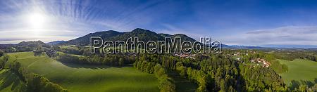 deutschland bayern bad heilbrunn drohnenansicht der