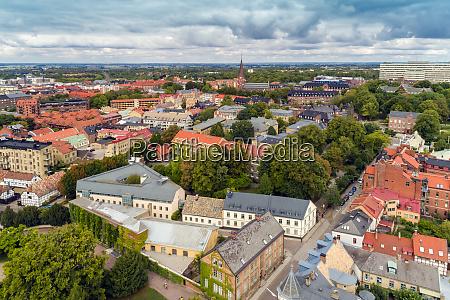schweden scania lund luftaufnahme der historischen