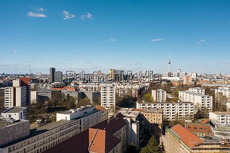 deutschland berlin luftaufnahme des stadtteils kreuzberg