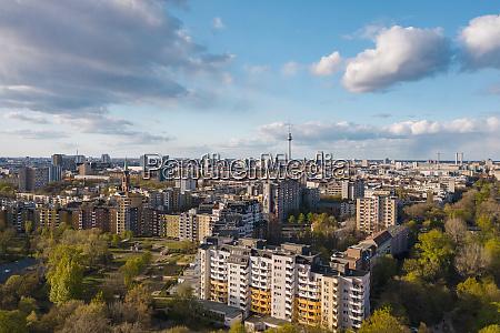 deutschland, berlin, luftaufnahme, des, stadtteils, kreuzberg, mit, fernsehturm - 28762849