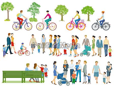einzelpersonen und familien in der freizeit