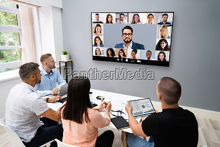 videokonferenz business meeting call
