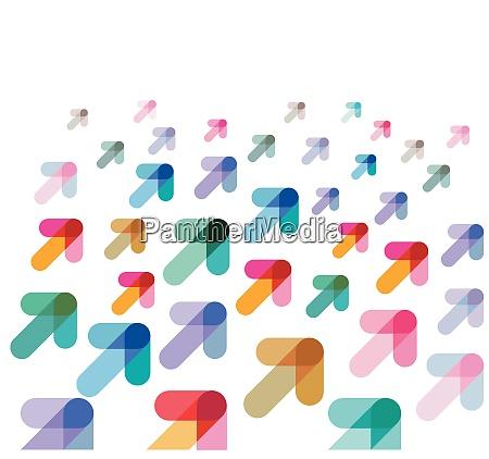 richtung saufsteigen konzept vektor illustration