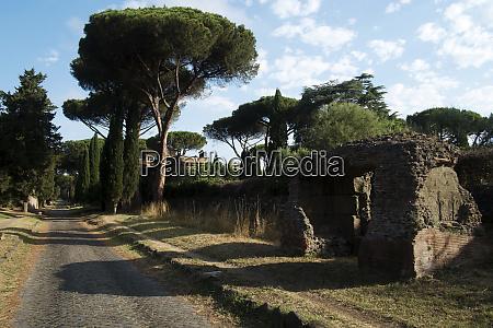 along the appian way rome lazio
