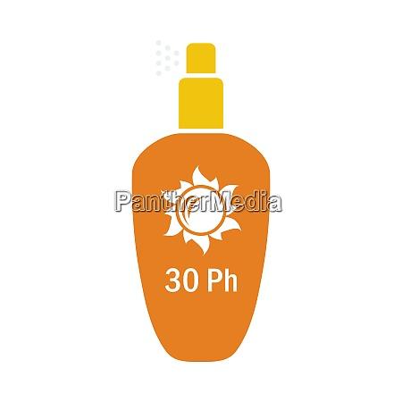 sonnenschutz spray symbol