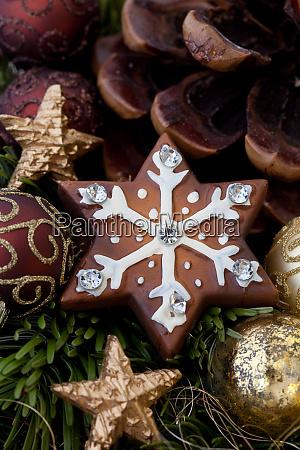 rustikale lebkuchen weihnachten stillleben