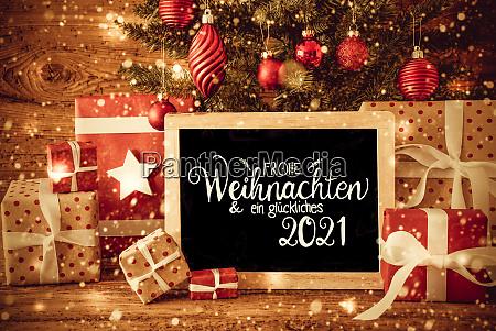 weihnachtsbaum geschenk text glueckliches 2021 bedeutet