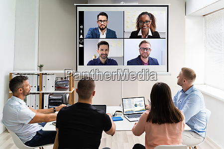 online video konferenz training business meeting